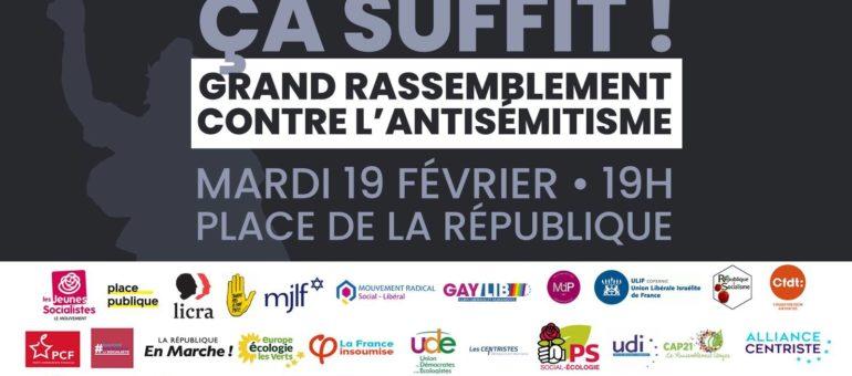 Réunis contre l'antisémitisme mais aussi le racisme